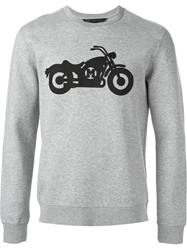 Marc By Marc Jacobs Motorcycle Print Sweatshirt Grey