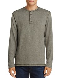 Surfside Supply Long Sleeve Henley Tee Forest Night