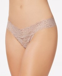 Maidenform Sexy Must Have Sheer Lace Thong Dmeslt Evening Blush