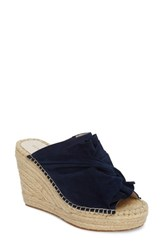 Kenneth Cole 'S New York Odele Espadrille Wedge Marine Suede
