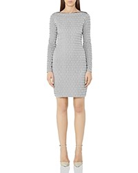Reiss Auguste Printed Dress White Black