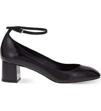 Whistles Ness Patent Leather Mary Janes Black