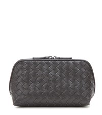 Bottega Veneta Intrecciato Leather Cosmetic Case Brown
