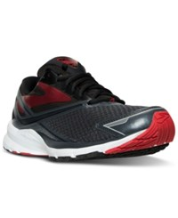 Brooks Men's Launch 4 Wide Running Sneakers From Finish Line Anthracite Black High Ris