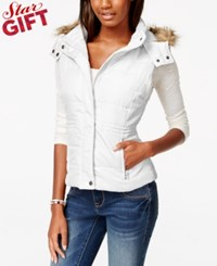 American Rag Faux Fur Trim Puffer Vest Only At Macy's
