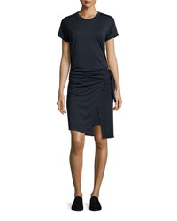 Rag And Bone Andie Short Sleeve Jersey Wrap Dress Navy