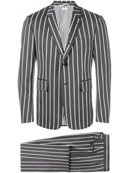 Thom Browne Striped Two Piece Suit Grey