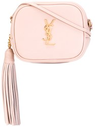 Saint Laurent Monogram Blogger Crossbody Bag Pink Purple