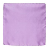 Forzieri Solid Silk Pocket Square Lilac