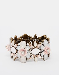 New Look Carved Rose Anna Stretch Bracelet Pink