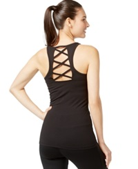 Inc International Concepts Lace Up Racerback Tank Top Only At Macy's Deep Black