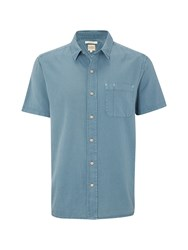 White Stuff Microtape Ss Shirt Blue