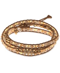 Lonna And Lilly Gold Tone Crystal Wrap Bracelet No Color