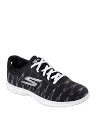 Skechers Ikat Lace Up Sneakers Black