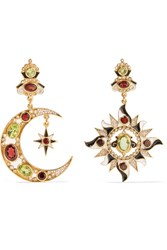 Percossi Papi Gold Plated Multi Stone Earrings