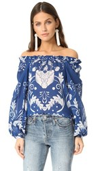 Alice Mccall My Sweet Lord Blouse Cobalt Bloom