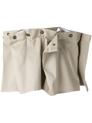 Y Project Draped Mini Skirt Women Cotton 36 Nude Neutrals