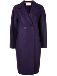 Harris Wharf London Single Breasted Coat Purple