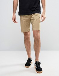 Penfield Yale Solid Chino Shorts Straight Tricolour Waist In Beige Beige