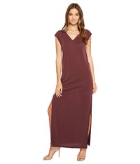 Culture Phit Lula Sleeveless Maxi Dress Marsala Women's Dress Orange