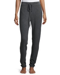 Neiman Marcus Cashmere Thermal Jogger Pants Dark Grey