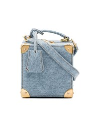 Natasha Zinko Blue Stonewash Denim Cross Body Box Bag