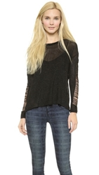Generation Love Jones Fringe Sweater Black