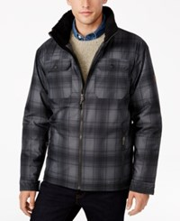 Free Country Men's Plaid Canvas Utility Jacket Grey