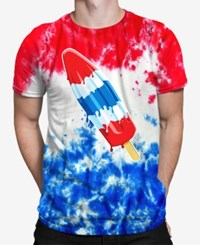 New World Tie Dye Popsicle T Shirt Redbluetd