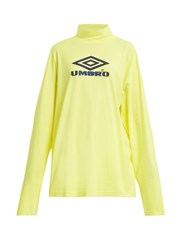Vetements X Umbro Long Sleeved Cotton Jersey Top Yellow