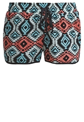 Twintip Shorts Turquoise Offwhite