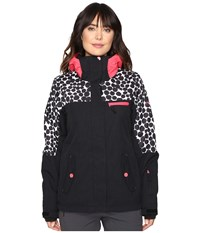 Roxy Jetty Block Jacket Irregular Dots Women's Coat Black