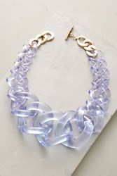Anthropologie Looped Lucite Necklace Lavender