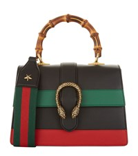 Gucci Small Dionysus Stripe Bamboo Top Handle Bag Female Black Multi