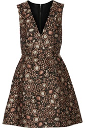 Alice Olivia Pacey Metallic Brocade Mini Dress