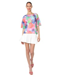 Isaac Mizrahi Multi Color Print Pullover Top Pink Multi