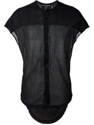 Cedric Jacquemyn Sheer Shortsleeved Shirt Black