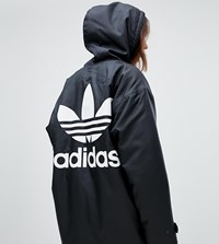 Adidas Originals Hooded Coat With Back Logo In Black