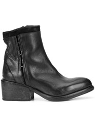 Moma Pull On Ankle Boots Leather Black