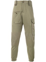 Alexander Mcqueen Patch Pocket Track Pants Green