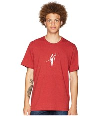 Toes On The Nose Dawn Patrol T Shirt Heather Burnt Red T Shirt