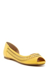 Restricted Miko Peep Toe Flat Yellow
