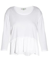 Stella Mccartney Ruffle Hem Top White