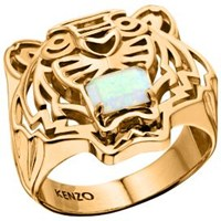 Kenzo 26383010805 Gold Plated Opal Ring Gold Metallic