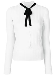 Dorothee Schumacher Tie Neck Knitted Top White