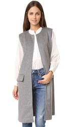 Cupcakes And Cashmere Shannon Long Vest Medium Grey