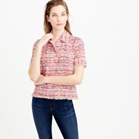 J.Crew Collection Polo Shirt In Italian Tweed
