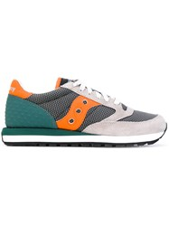 Saucony Lace Up Trainers Men Cotton Suede Polyamide Rubber 42.5 Grey