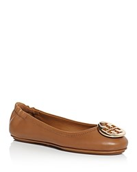 Tory Burch Minnie Travel Ballet Flats Royal Tan