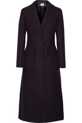 Prada Wool Blend Coat Midnight Blue